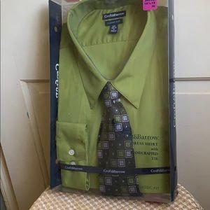 Men's still in box dress shirt with tie